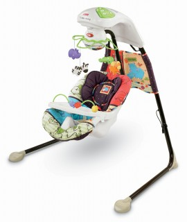 Ghế xích đu Fisher Price Luv U Zoo Cradle Swing
