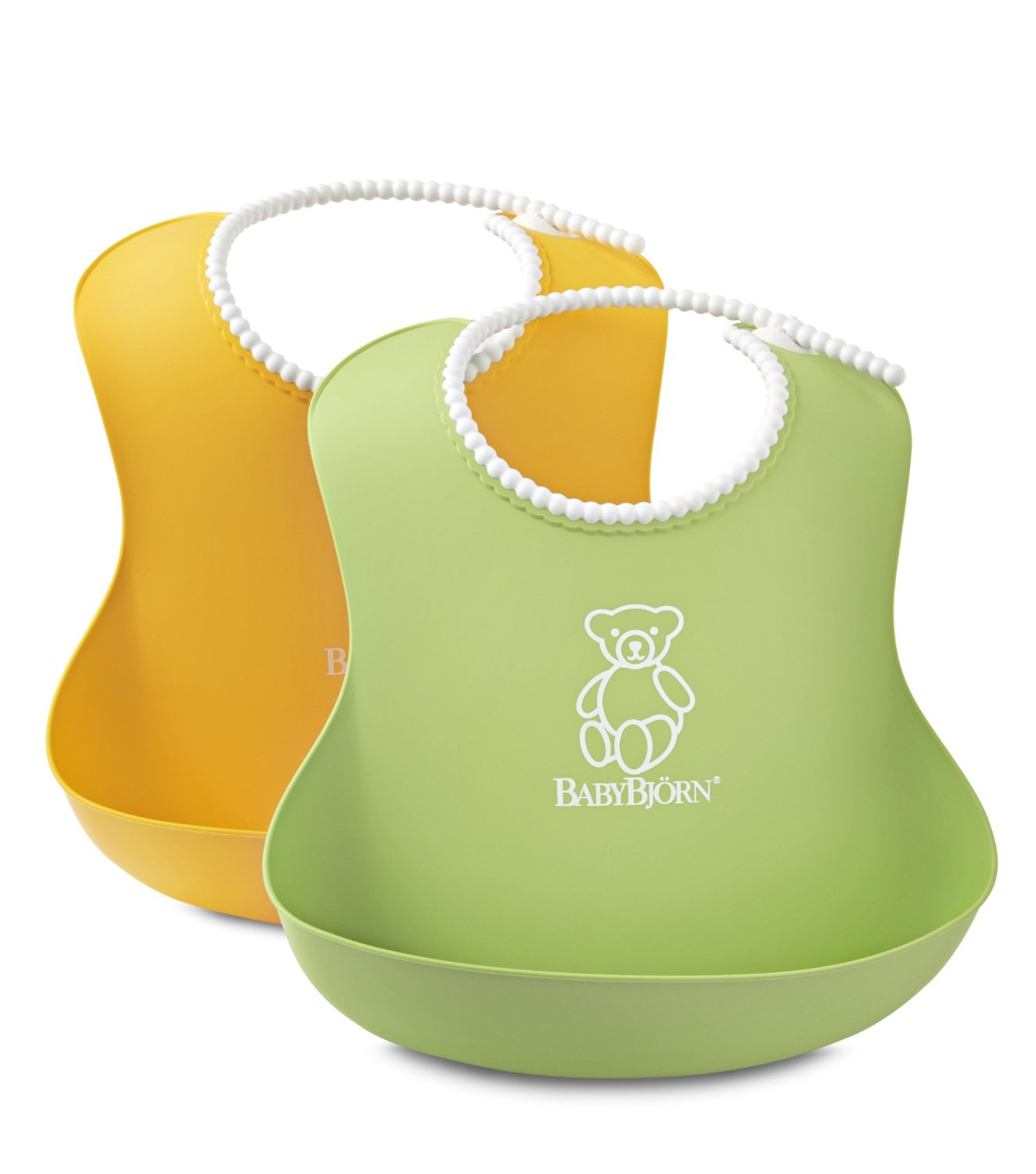BABYBJORN Soft Bib - Green/Yellow