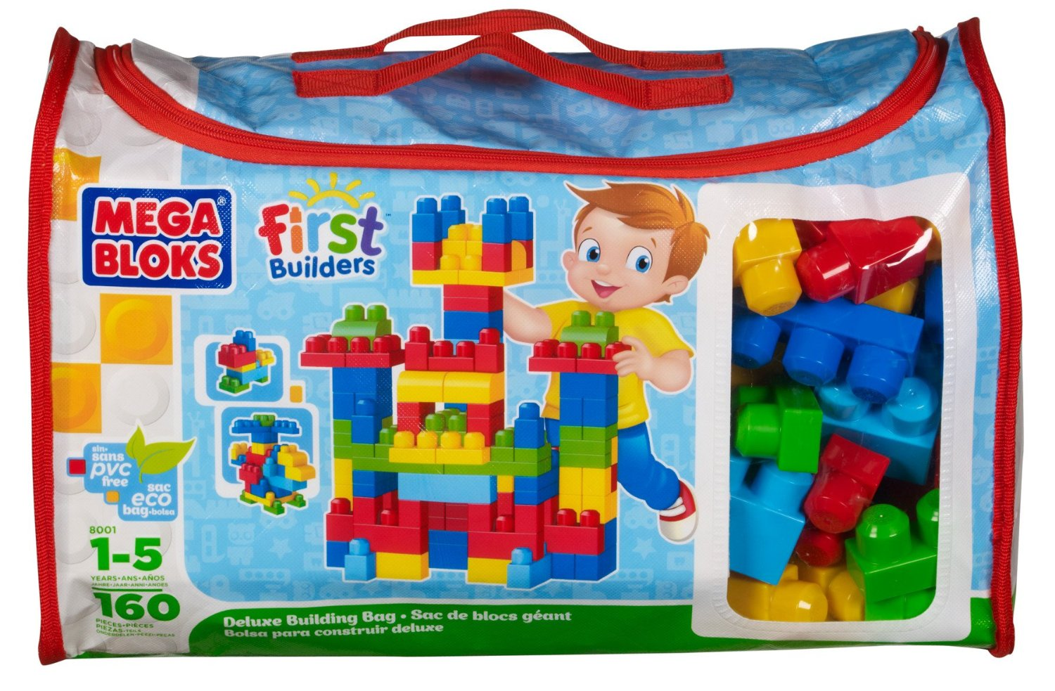Mega Bloks First Builders Deluxe Building Bag 160-Piece
