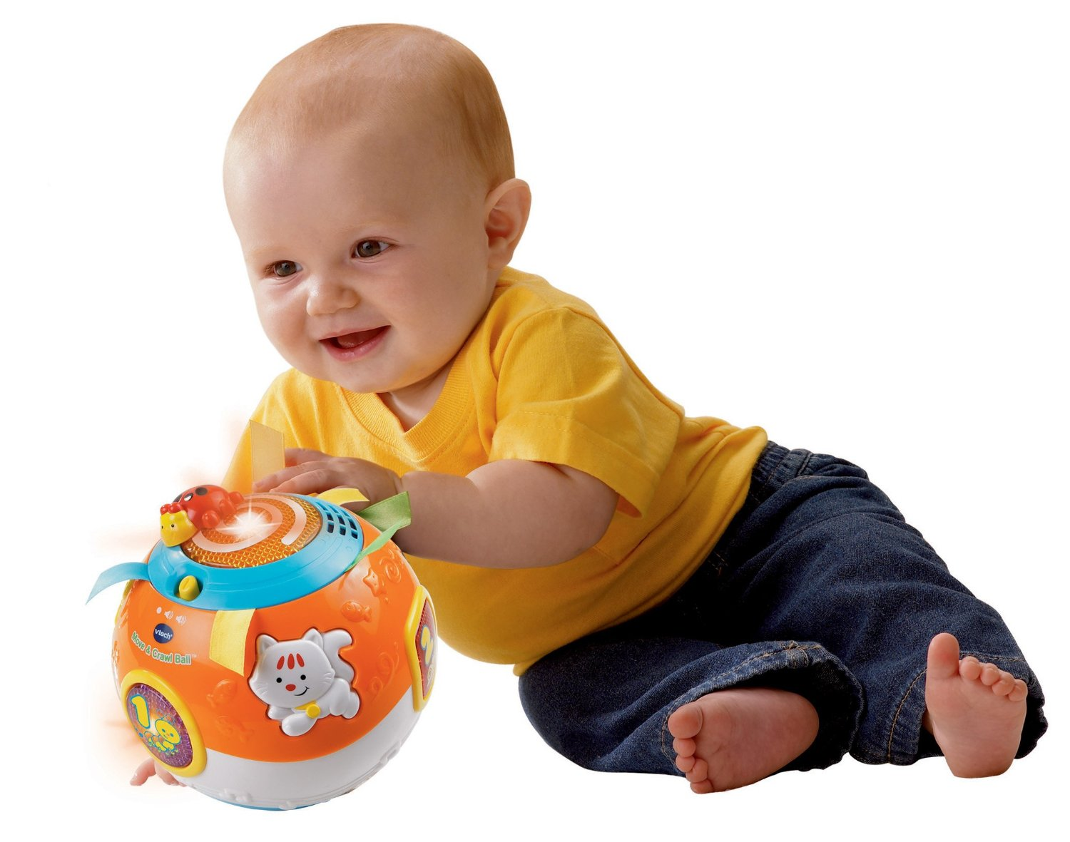 VTech Move and Crawl Ball Orange