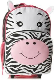Balo kéo Trailmaker Girls 7-16 Zebra Rolling Backpack